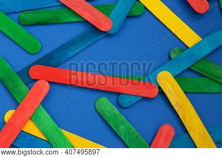 Abstract Background. Colorful Ice Cream Stick