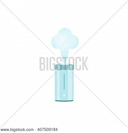 Humidifier Icon. Purifier Air. Control Clipart On White Background