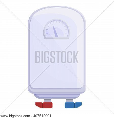 Home Boiler Icon. Cartoon Of Home Boiler Vector Icon For Web Design Isolated On White Background