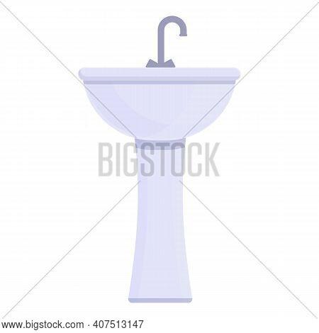 Washbasin Icon. Cartoon Of Washbasin Vector Icon For Web Design Isolated On White Background