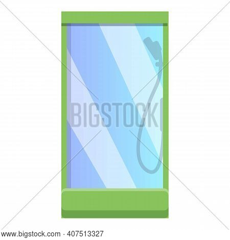 Shower Stall Icon. Cartoon Of Shower Stall Vector Icon For Web Design Isolated On White Background