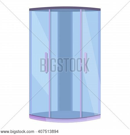Design Shower Stall Icon. Cartoon Of Design Shower Stall Vector Icon For Web Design Isolated On Whit