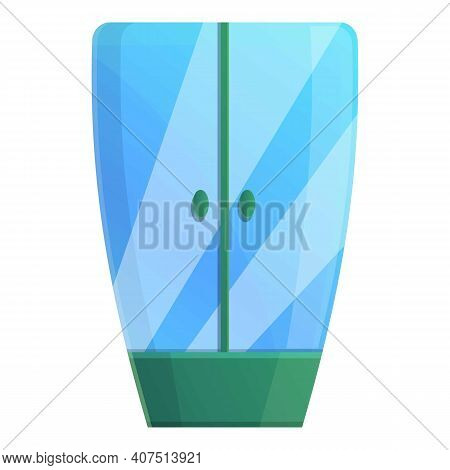 Green Shower Stall Icon. Cartoon Of Green Shower Stall Vector Icon For Web Design Isolated On White