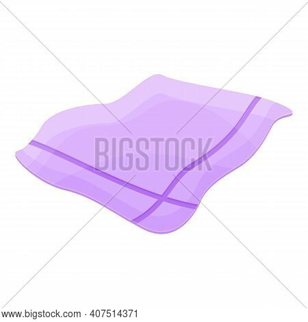 Dining Handkerchief Icon. Cartoon Of Dining Handkerchief Vector Icon For Web Design Isolated On Whit