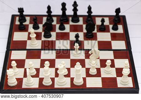 Famous Chess Debut Berlin Defense Or Berlin Wall Is One Of Most Stable Defenses Of Spanish Game. Mat