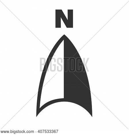North Arrow Cartography Symbol With Letter N Vector Illustration