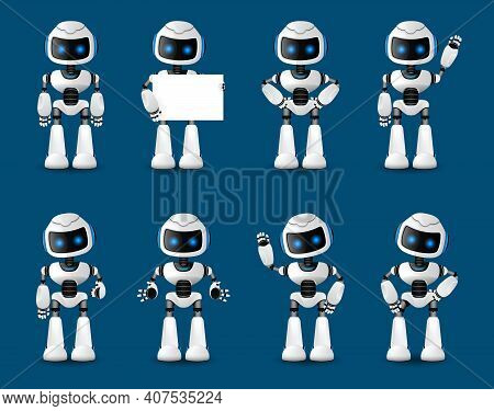 Robot Innovation Technology Science Emotions. Animated Artificial Intelligence. Web Design. Robotic