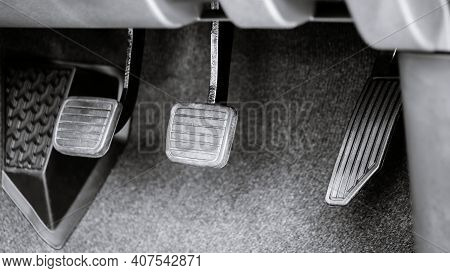 Clutch, Brake And Accelerator Pedal System Of Manual Gear Vehicle.
