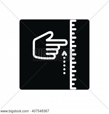 Black Solid Icon For Approximately Almost Measurement More-or-less  Size Metering Dimension