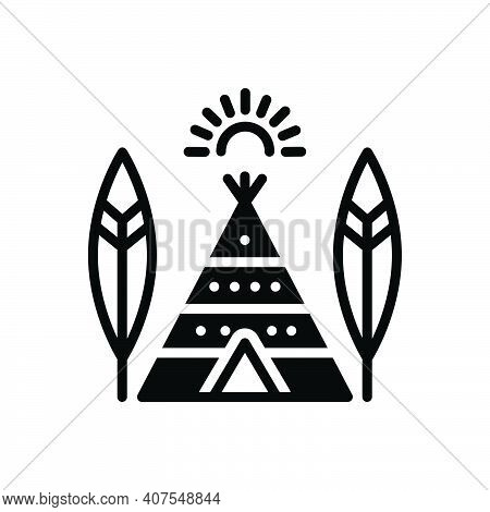 Black Solid Icon For Tribe Caste Tribal Society Culture Ethnic