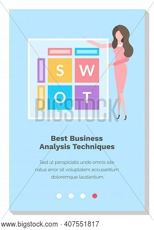 Woman Studies The Best Business Analysis Techniques And Works. Website Landing Page Template. Beauti