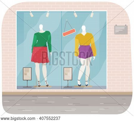 Vector Design Of A Mannequin For Women S Clothes Showcase. Female Figure Full Length Fashion Clothin