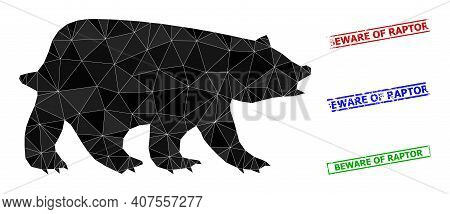 Triangle Bear Polygonal Icon Illustration, And Unclean Simple Beware Of Raptor Watermarks. Bear Icon