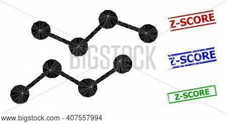 Triangle Charts Polygonal Symbol Illustration, And Rubber Simple Z-score Rubber Seals. Charts Icon I