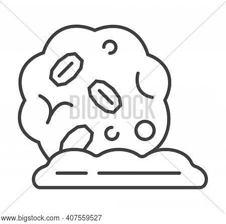 Oatmeal Cookies Icon Vector. Granola Candy, Cake Sign. Oatmeal Cereal, Chips And Fast Breakfast Are