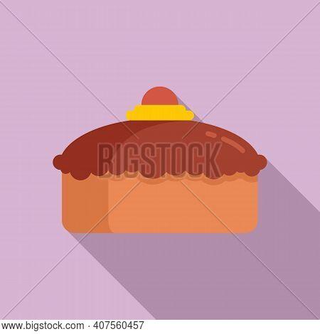 Confectioner Cake Icon. Flat Illustration Of Confectioner Cake Vector Icon For Web Design