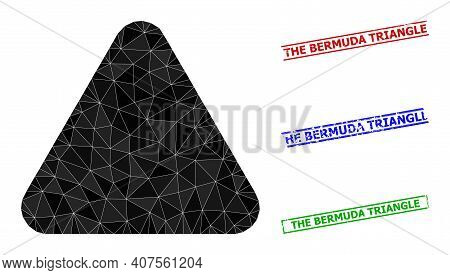 Triangle Rounded Triangle Polygonal Icon Illustration, And Unclean Simple The Bermuda Triangle Stamp
