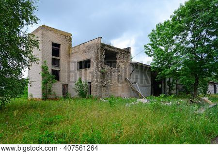 Abandoned Compound Feed Plant Near Resettled Village Of Dronki In Chernobyl Exclusion Zone, Khoiniki