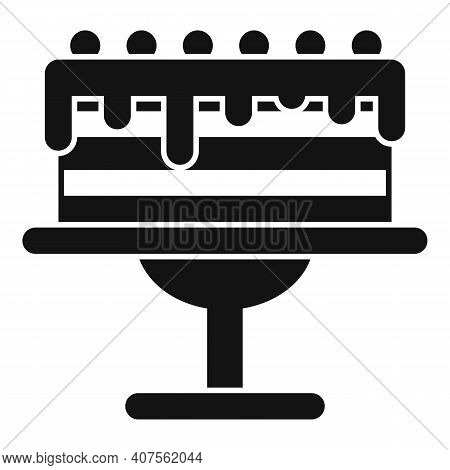 Homemade Cake Icon. Simple Illustration Of Homemade Cake Vector Icon For Web Design Isolated On Whit