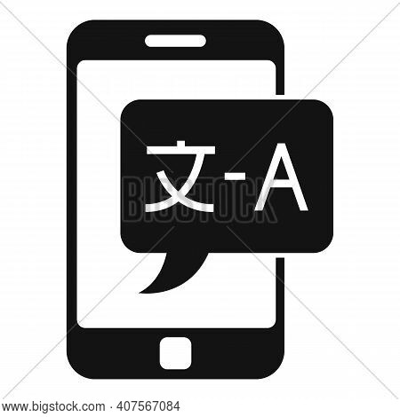 Smartphone Live Translation Icon. Simple Illustration Of Smartphone Live Translation Vector Icon For
