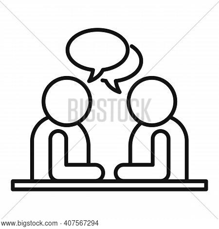 Interpreter Translator Icon. Outline Interpreter Translator Vector Icon For Web Design Isolated On W