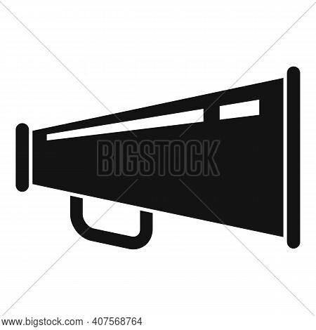 Handle Metal Megaphone Icon. Simple Illustration Of Handle Metal Megaphone Vector Icon For Web Desig