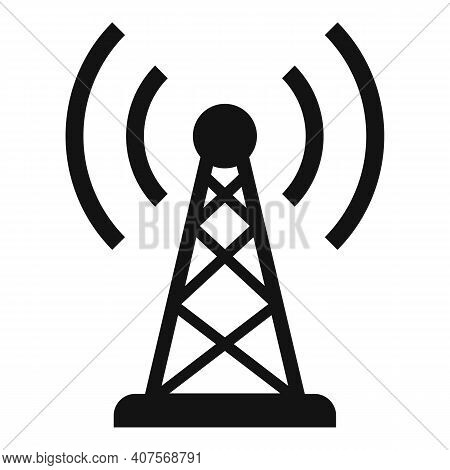 Radio Tower Icon. Simple Illustration Of Radio Tower Vector Icon For Web Design Isolated On White Ba