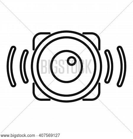 Speaker Announcer Icon. Outline Speaker Announcer Vector Icon For Web Design Isolated On White Backg