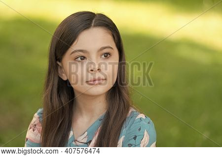 Summer Skincare Routine. Little Child On Summer Outdoor. Beauty Look Of Small Skincare Model. Safe S