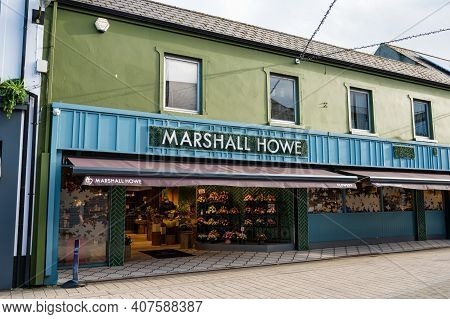 Limavady, Northern Ireland- Feb 6, 2021: Marchal Howe Greengrocer In Limavady