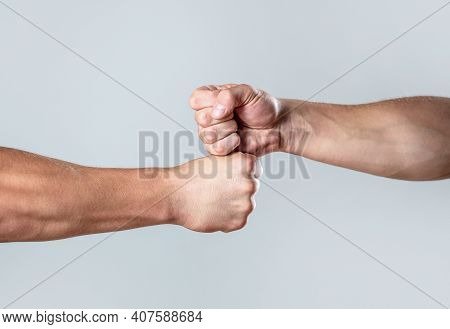 Hands Of Man People Fist Bump Team Teamwork, Success. Man Giving Fist Bump. Team Concept. People Bum