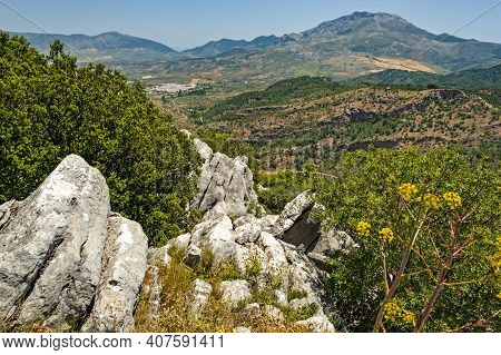 Spectacular Views Of The Sierra De Las Nieves Natural Park In Southern Spain Which Was Declared A Bi