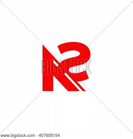 Abstract Letter A2 Simple Arrow Geometric Logo Vector