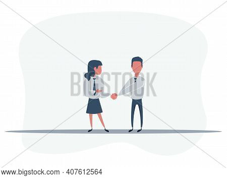 Handshake Men And Women. Handshake Of Business People Partners Businessmen And Businesswomen. Hand S