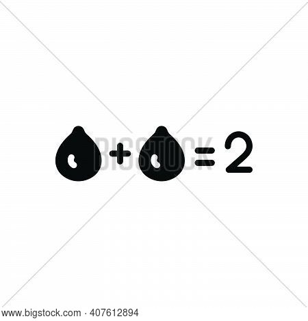Black Solid Icon For Sum Total Number Equal Entire Thorough Tally