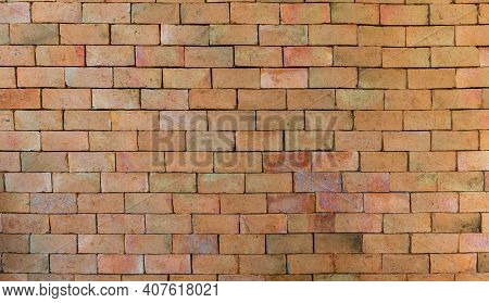 Old Red Brick Wall Texture. Home Or Office Design Backdrop. Old Brick Wall Surface. Abstract Old Bro