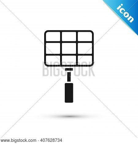 Grey Barbecue Steel Grid Icon Isolated On White Background. Top View Of Bbq Grill. Wire Rack For Bbq