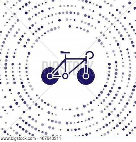 Blue Bicycle Icon Isolated On White Background. Bike Race. Extreme Sport. Sport Equipment. Abstract