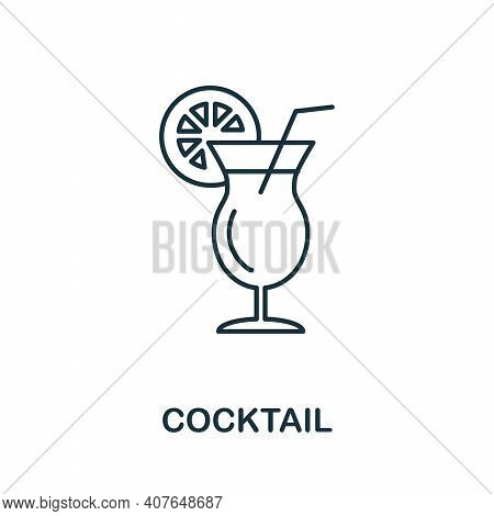 Cocktail Icon. Simple Element From Drinks Collection. Creative Cocktail Icon For Web Design, Templat