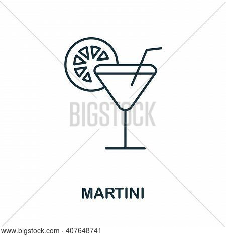 Martini Icon. Simple Element From Drinks Collection. Creative Martini Icon For Web Design, Templates