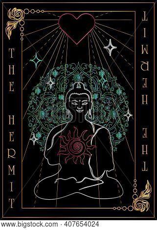 The Illustration - Card For Tarot - The Hermit Card.