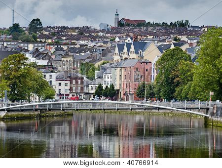 view of cork city and river lee poster