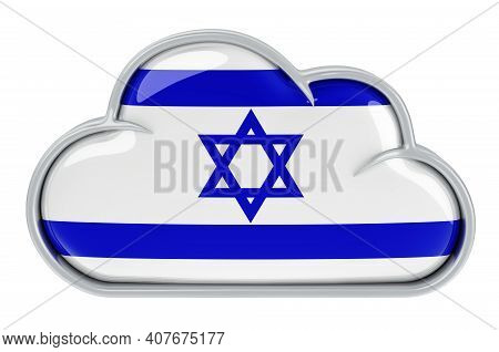 Cloud Storage Service In Israel, 3d Rendering Isolated On White Background