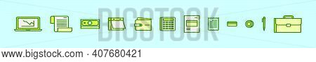 Set Of Payroll Cartoon Icon Design Template With Various Models. Modern Vector Illustration Isolated