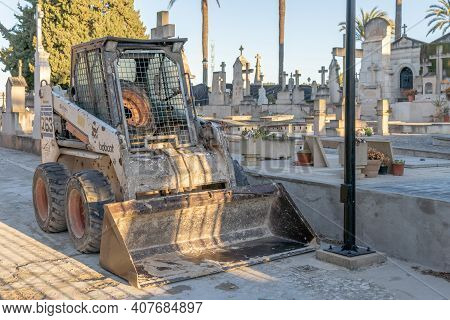 Porreres, Spain; February 11 2021: Second Phase Of Excavations In The Mass Grave Of The Municipal Ce