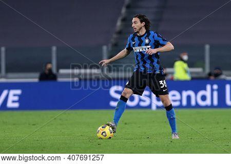 Torino, Italy. 09th Fabruary 2021 . Matteo Darmian Of Fc Internazionale  During The Coppa Italia Sem