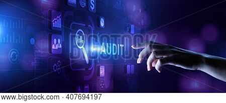 Audit Internal Financial Examination Accounting Business Finance Concept.