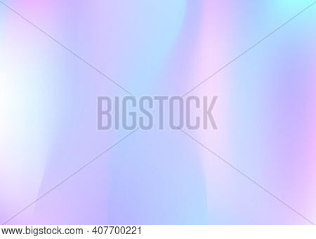 Gradient Mesh Abstract Background. Neon Holographic Backdrop With Gradient Mesh. 90s, 80s Retro Styl