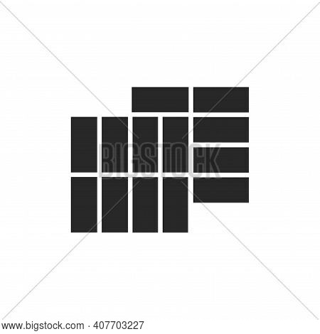Paving Slabs Color Line Icon. Pictogram For Web Page, Mobile App, Promo.