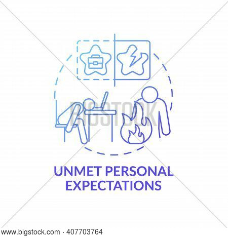Weariness Work Concept Icon. Dissatisfaction And Stress Idea Thin Line Illustration. Personal Expect